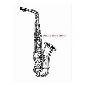 Carte postale de saxophone de VMS