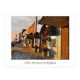 Carte postale de scène de Brighton Michigan