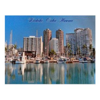 Carte postale de scènes de Honolulu
