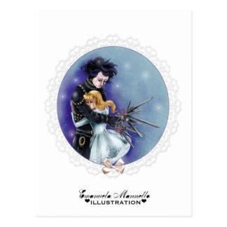 Carte postale de scissorhands d'Edouard