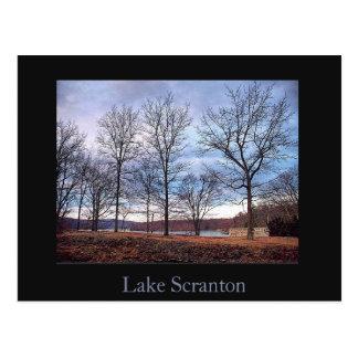 Carte postale de Scranton de lac Scranton-