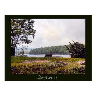 Carte postale de Scranton de PA-Lac de Scranton