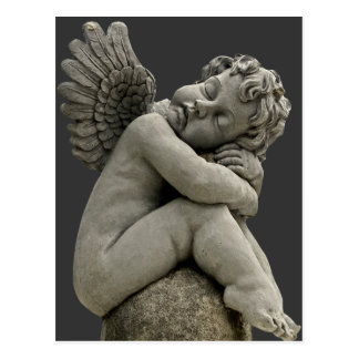 Carte postale de sculpture en ange d'ange de