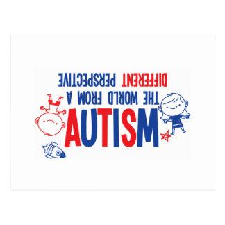 Carte postale de sensibilisation sur l'autisme