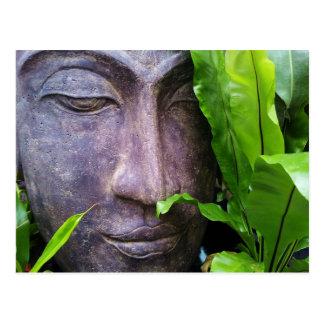 Carte postale de sérénité de Bouddha de zen
