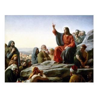 Carte postale de sermon de Jésus