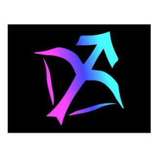 Carte postale de signe de zodiaque de Sagittaire