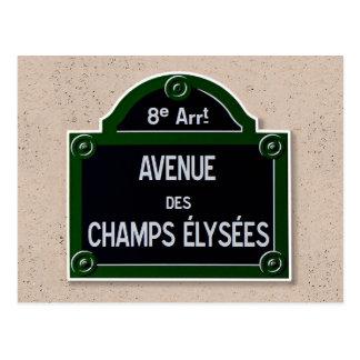 Carte postale de signe d'Elysee de champions