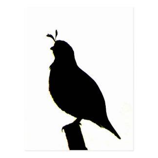 Carte postale de silhouette de cailles de