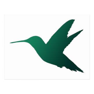 Carte postale de silhouette de colibri