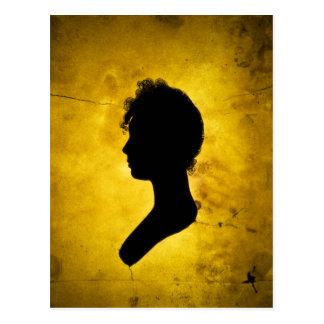 """Carte postale """"de silhouette de femme"""""""