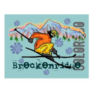 Carte postale de ski de Breckenridge le Colorado