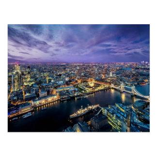 Carte postale de soirée de Londres