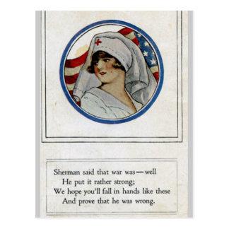 Carte postale de soldat/infirmière