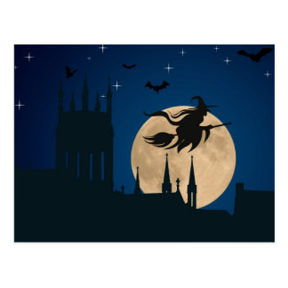 Carte postale de sorcière de nuit