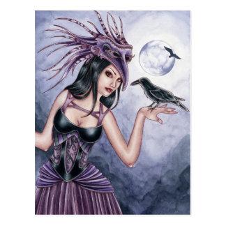 Carte postale de sorcière de Rayne - de Raven
