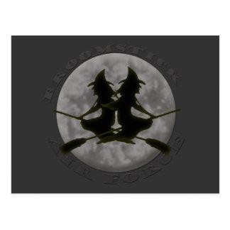 Carte postale de sorcières de Halloween
