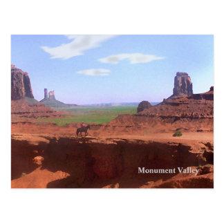 Carte postale de souvenir de cowboy de vallée de