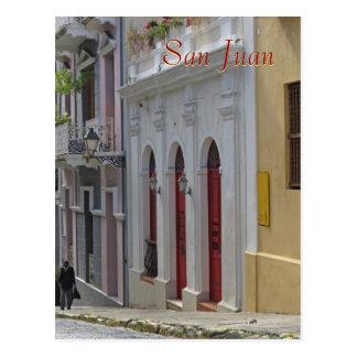 Carte postale de souvenir de vieux San Juan, Porto