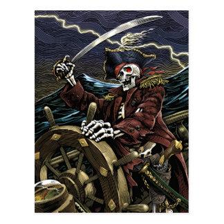 Carte postale de squelette de pirate