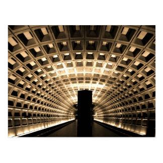 Carte postale de station de métro de Washington DC