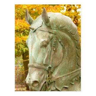 Carte postale de statue de cheval