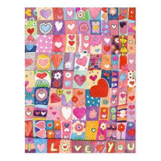 Carte postale de stupéfaction d'amour