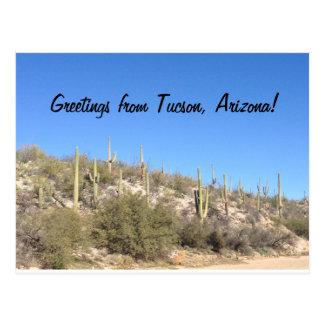 Carte postale de sud-ouest de désert de Tucson