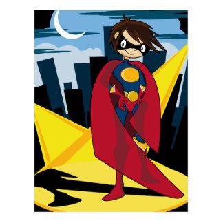 Carte postale de super héros de fille