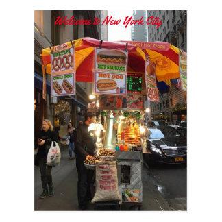 Carte postale de support de hot-dog de New York