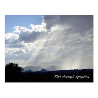 Carte postale de sympathie de lueurs d'espoir