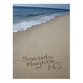 Carte postale de tailles de bord de la mer de
