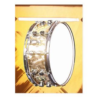Carte postale de tambour ou de batteur