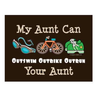 Carte postale de tante Outswim Outbike Outrun Tria