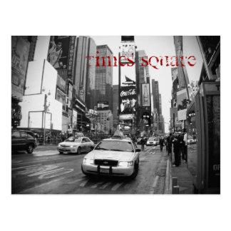 Carte postale de taxi de Times Square de NYC en