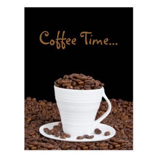 Carte postale de temps de café