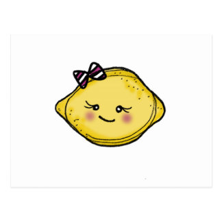 Carte postale de tête de citron de Vol25 Rosey