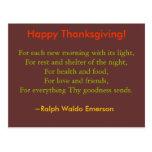 Carte postale de thanksgiving