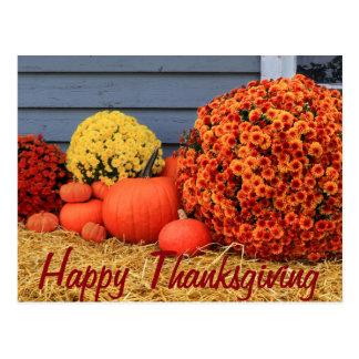 Carte postale de thanksgiving (avec le texte)
