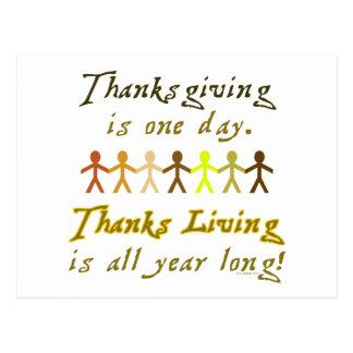 Carte postale de ThanksLiving - horizontale