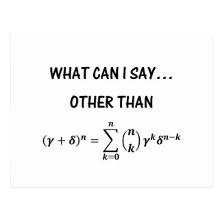 Carte postale de théorème binomial