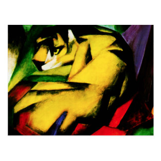 Carte postale de tigre de Franz Marc