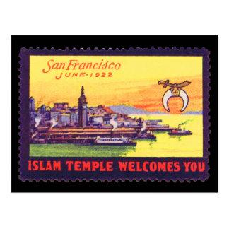 Carte postale de timbre de poster vintage,