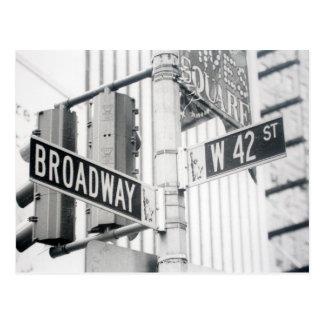 Carte postale de Times Square de Broadway