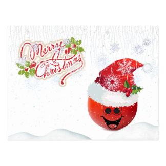 Carte postale de tomate de Joyeux Noël