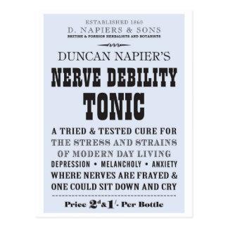 Carte postale de tonique de nerf