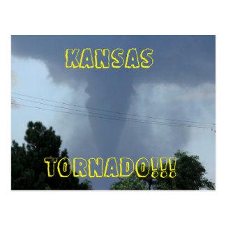 Carte postale de tornade du Kansas