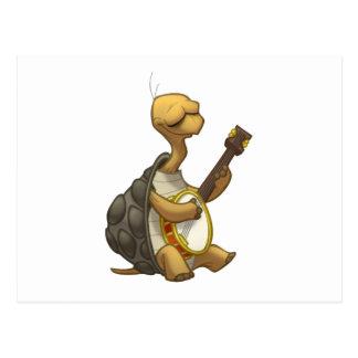 Carte postale de tortue de Banjo-Strummin'