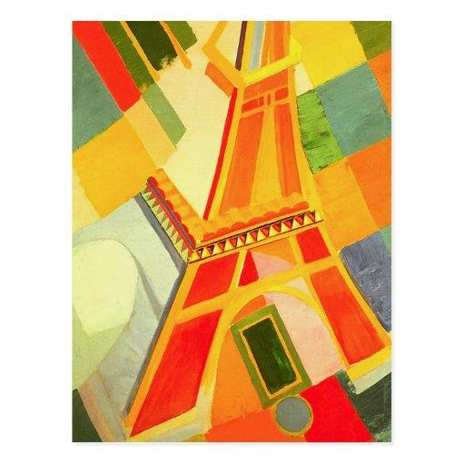 Carte postale de Tour Eiffel de Robert Delaunay