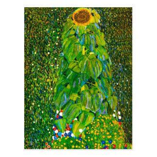 Carte postale de tournesol de Gustav Klimt